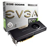 EVGA Nvidia GeForce GTX 770 2GB GDDR5 Graphics Card (PCI Express 3.0, HDMI, DVI-I, DVI-D, Display Port, 256 Bit, Vision Ready, GPU Boost)