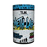 TLM Research Meth Lab Preworkout Clinically Dosed with 400 mg Caffiene, Theobromine, Higenamine, and Beet Root Nitrate for Intense Energy and Pump - 30 Serving