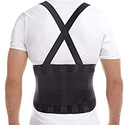 Premium Lumbar Lower Back Brace and Support Belt - X-Large, Waist/Belly 46\