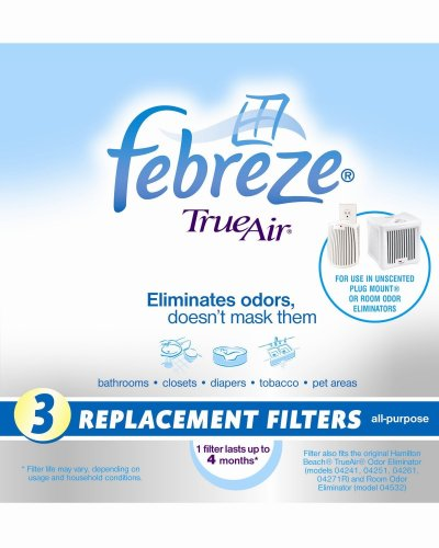 Hamilton Beach 04230FS True Air Replacement Filter, 3-Pack