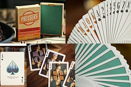 Pressers 'Mad Men Era' Playing Cards by Ellusionist - 1