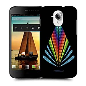 Snoogg Colorful Triangle Designer Protective Back Case Cover For MICROMAX A117