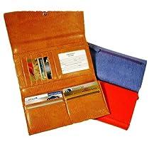 Budd Leather Continental Tri Fold Clutch Wallet, Black Onyx (551331L-1)