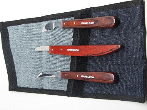 3Pc. Wood Carving Whittling Detail Chip Knives Ramelson