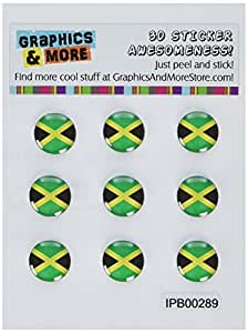 Graphics and More Jamaica Flag Home Button Stickers Fits Apple iPhone 4/4S/5/5C/5S, iPad, iPod Touch - Non-Retail Packaging - Clear