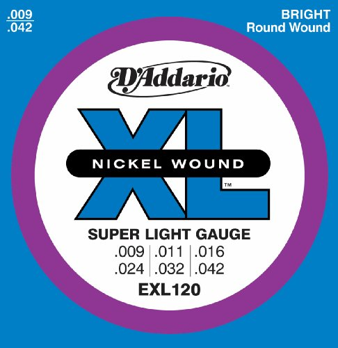D'Addario EXL120 Nickel Wound Electric Guitar