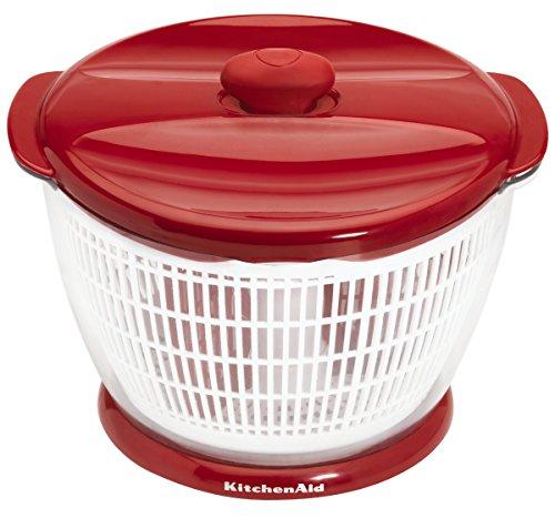 KitchenAid Professional Salad & Fruit Spinner, Red (Kitchenaid Salad Spinner compare prices)