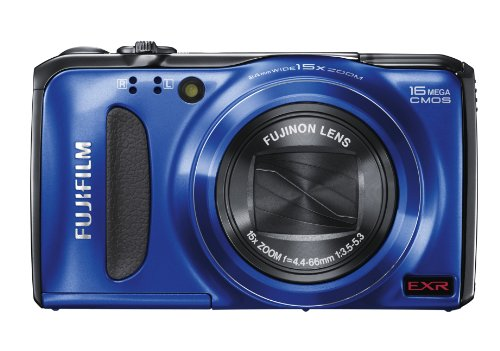 Fujifilm FinePix F500 Digital Camera - Blue (16MP, 15x Optical Zoom) 3 inch LCD Screen