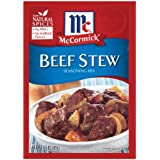 McCormick Beef Stew Seasoning, 1.5 Ounce Packets (Pack of 12)
