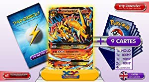 MEGA CHARIZARD Y EX (DRACAUFEU) 13/106 220HP XY 2 Flashfire (Etincelles) - Booster optimisé Attaque Eclair de 10 cartes pokemon Anglaises