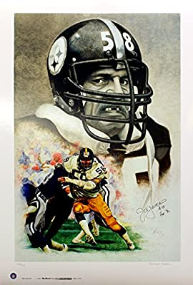 "Pittsburgh Steelers Jack Lambert, ""Man of Steel"" Limited Edition Autographed Lithograph"