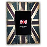 Zep 6 x 4-inch Wood Cornice Union Jack Photo Frame, Multi-Colour