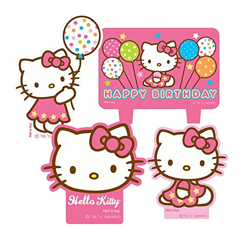 1 X Hello Kitty Mini Molded Candles - 4/Pkg.