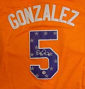 Buy Carlos Gonzalez Colorado Rockies Autographed 2013 All Star #5 Jersey by Sports-Autographs