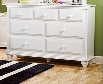 Burke 7 Drawer Dresser - Fully Assembled (White)