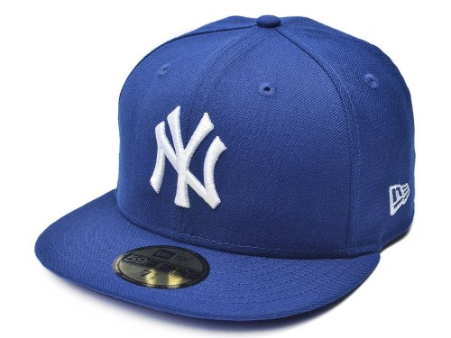 MLB New York Yankees Light Royal with White 59FIFTY Fitted Cap, 7 3/8 (Cap Mlb New Era compare prices)