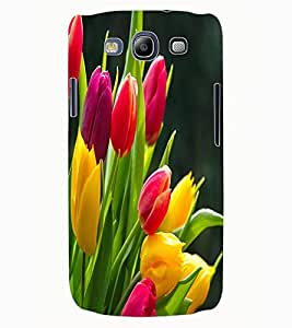 ColourCraft Beautiful Flowers Design Back Case Cover for SAMSUNG GALAXY S3 I9300