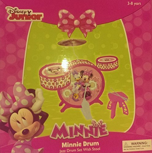 Disney-Junior-Minnie-Mouse-Jazz-Drum-Set-with-Stool