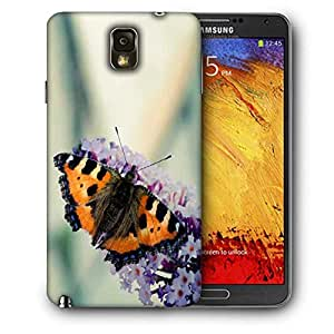 Snoogg Butterfly In White Flower Printed Protective Phone Back Case Cover For Samsung Galaxy NOTE 3 / Note III