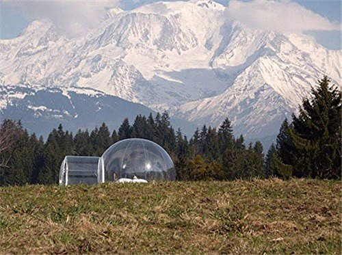 TM Dl Clear Bubble Tent 3-4 Person Includes Inflatable Pump Camping Outdoor ...