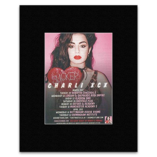 CHARLI XCX - Sucker Matted Mini Poster - 13.5x10cm