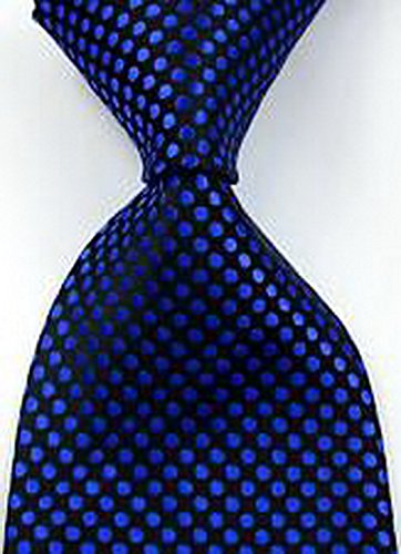 romario-groomsmen-jds2155-novelty-polka-dots-black-blue-jacquard-woven-mens-tie-151