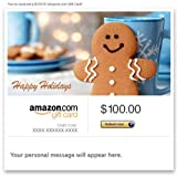 Amazon Gift Card - Email - Happy Holidays (Gingerbread Man)