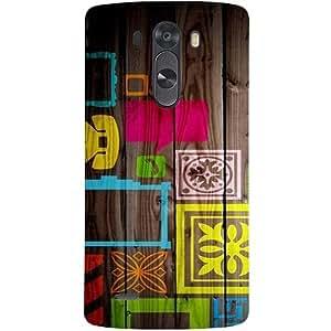 Casotec Stamps on Wooden Texture Design Hard Back Case Cover for LG G3 Mini