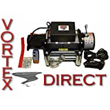 New Vortex 12000 LB Pound Recovery Winch Bonus Package! 2 remotes (FAST SHIPPING - 1 TO 4 BUSINESS DAY DELIVERY)