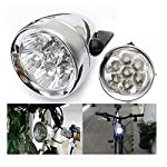JBikes Dynamo Classic Retro Chrome Bicycle Headlight with Visor for Lowrider Beach Cruiser Comfort BMX Hybrid Bike