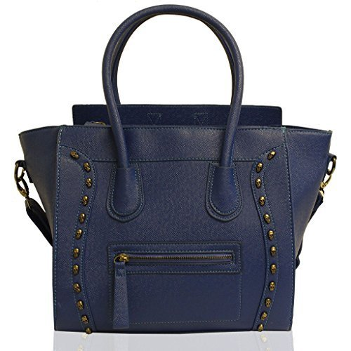 Womens Designer Celebrity Inspired Faux Leather Stylish Tote Smile Skull HandBag