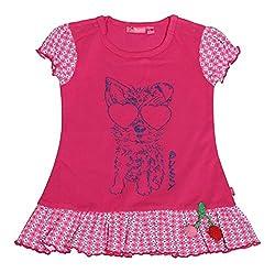 BUZZY Baby Girls' Dress (ANEISHA-01, Pink, 3-6 Months)