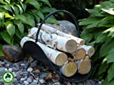 Gas Fireplace Decorative Birch Logs - Minnesota White Paper Birch Tree Logs w/ Sustainability Medallion for Environmentally Renewable Harvesting Practices