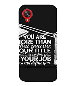 PrintVisa Motivational And Inspirational Quote 3D Hard Polycarbonate Designer Back Case Cover for LG Google Nexus 5