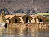 Sky Wall Decals Floating Uros Island on Lake Titicaca in Peru - 48 inches x 36 inches - Peel and Stick Removable Graphic