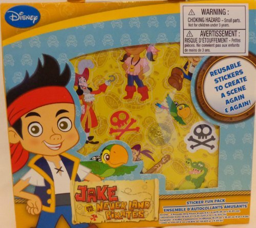 Jake and the NeverLand Pirates Sticker Fun Pack - Resuable Stickers To Create A Scene Again & Again! by Greenbrier Inc. - 1