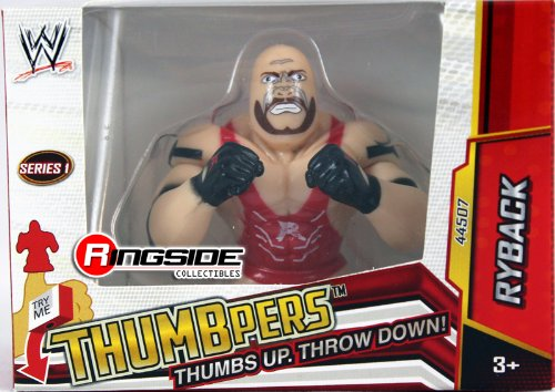 RYBACK - WWE THUMBPERS SERIES 1 WICKED COOL TOYS WWE TOY WRESTLING ACTION FIGURE - 1