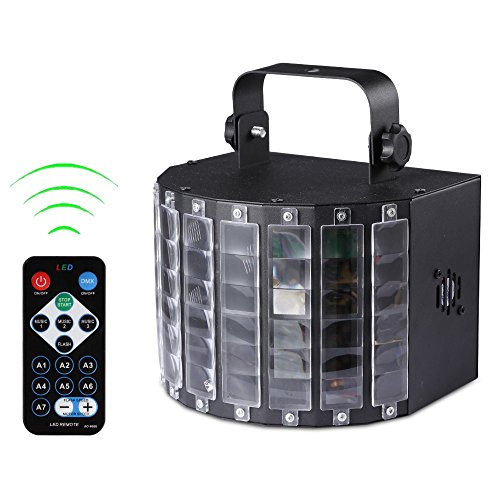 SuperSWK 9 Colors Effect Stage Lighting LED DMX Remote Control Sound Activated Stage Lights with Remote Controller for DJ Club Disco Bar Party KTV (Stage Light Mixer compare prices)
