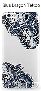 DEVILCASE Traditional Tattoo Silicone Soft Painted Case for iPhone 6+/6S+ (Blue Dragon)