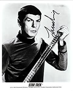 Star Trek Leonard Nimoy as Mr. Spock Signed Autographed 8 X 10 RP Photo - Mint Condition
