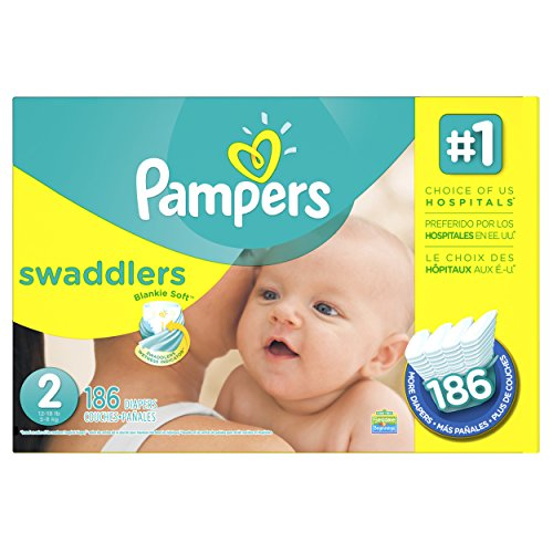 Pampers Swaddlers Diapers Size 2 Economy Pack Plus 186 Count