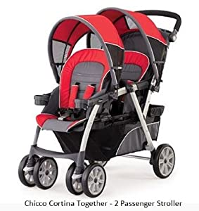 Chicco Cortina Together Double Stroller, Fuego (Discontinued by Manufacturer)