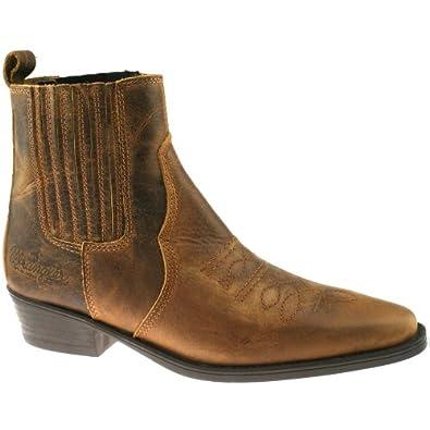 wrangler tex mid mens ankle cowboy boots brown wm122981k
