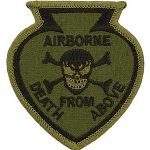 U.S. Army Airborne Death From Above Patch Brown 3 by FindingKing