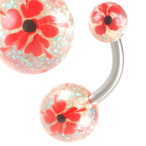 14G 14 gauge 1.6mm 3/8 10mm Steel Belly button Ear rings navel bar Body Piercing Jewellery AEQQ