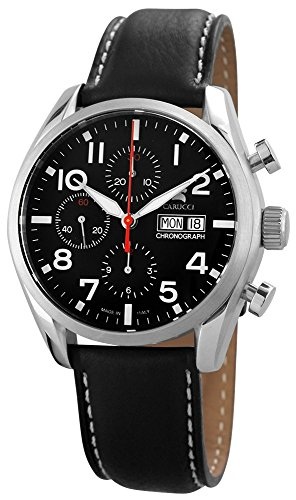 Carucci Watches Men's Automatic Watch Analogue XL Leather CA6607BK