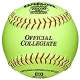 Wilson A9010 Bsst Leather Collegiate Fast Pitch Softballs A9010b 1 Dozen by Wilson