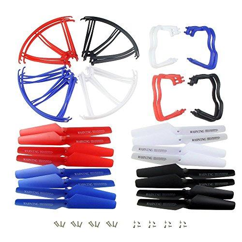 hometalksrupgraded-4-colores-de-syma-x5-x5c-x5c-1-nueva-version-repuestos-16pcs-principal-cuchilla-h