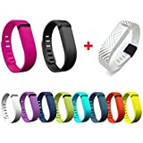 I-smile® 11PCS Replacement Bands With Metal Clasps For Fitbit Flex / Wireless Activity Bracelet Sport Wristband / Fitbit Flex Bracelet Sport Arm Band (No Tracker, Replacement Bands Only) & 2PCS Silicon Fastener Ring For Free , Small/11pcs B