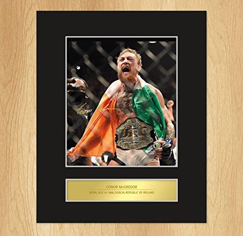 Foto autografata con cornice Conor McGregor UFC